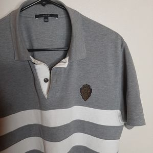 Flawless GUCCI Equestrian logo striped polo